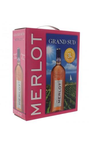 GRAND SUD MERLOT ROSE WINE BOX