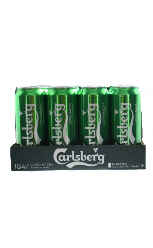 CARLSBERG LAGER BLOND 12X50CL CANS