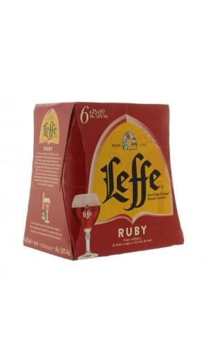 LEFFE RUBY BOTTLES 6X250ML